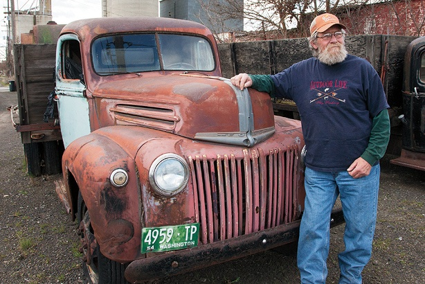 Dave with red truck